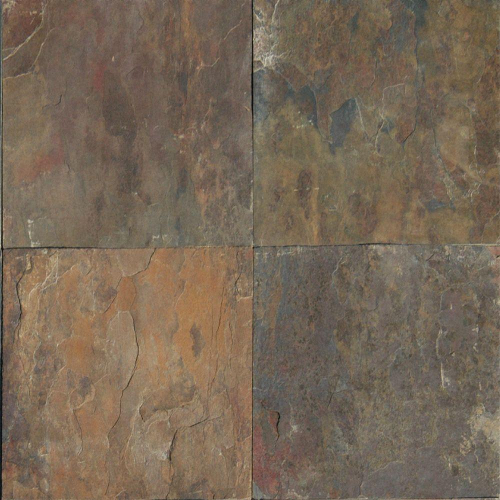 MSI Rustique Earth 12 in. x 12 in. Gauged Slate Floor and Wall Tile (10 sq. ft. / case)