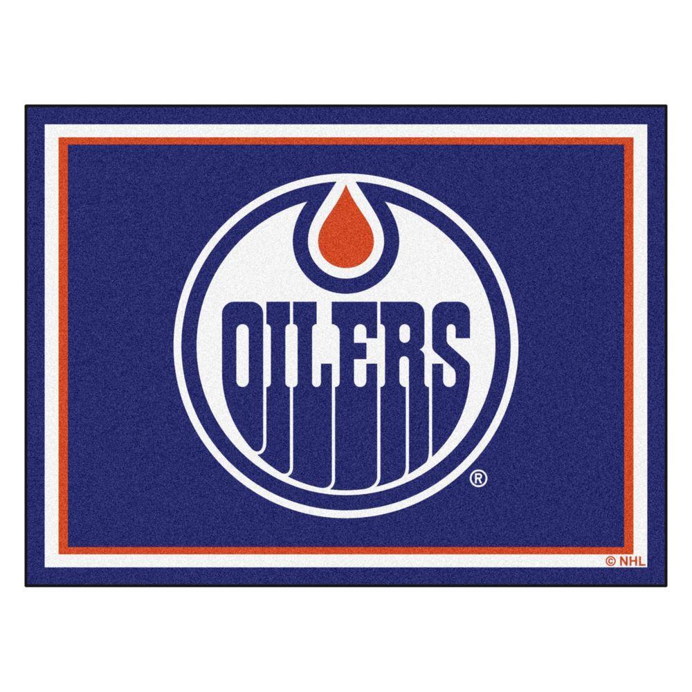 NHL Edmonton Oilers Navy Blue 8 ft. x 10 ft. Indoor Area Rug