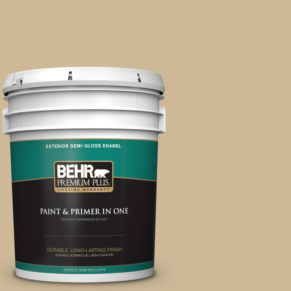 5 gal. #MQ2-22 Hayloft Semi-Gloss Enamel Exterior Paint and Primer in