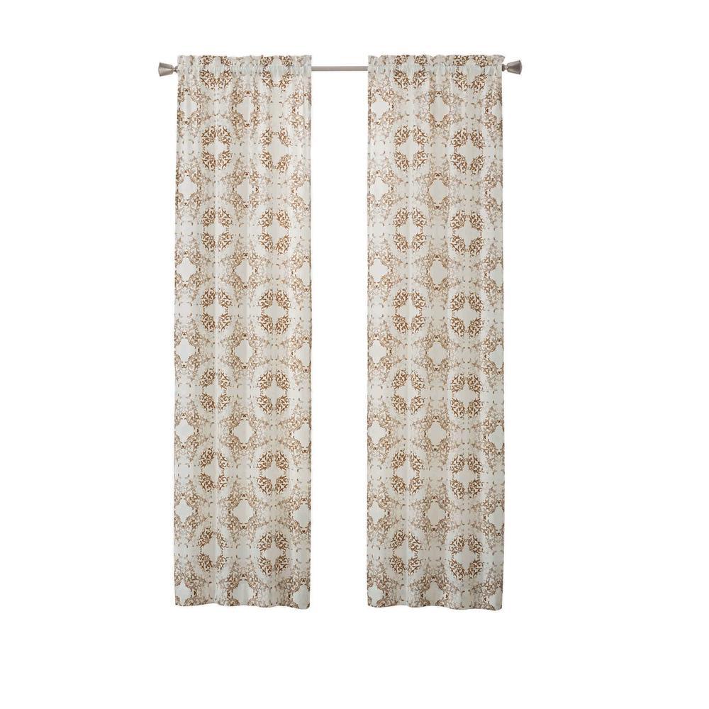 Aldrich 2-Pack Window Curtain Panels in Toffee - 56 in. W x 84 in. L
