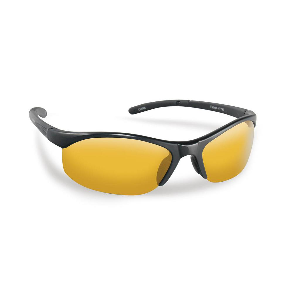 71be905c52b2 Flying Fisherman Bristol Polarized Sunglasses in Black Frame with Yellow  Amber Lens