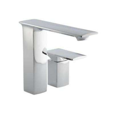stance single control deck mount bathroom faucet in polished chrome