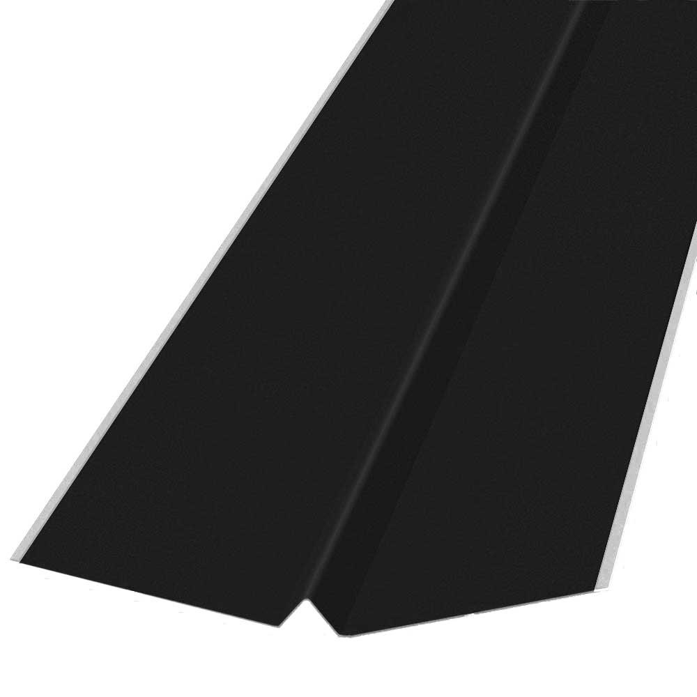 18 in. x 10 ft. Galvanized Steel W-Valley Flashing in Black-14896 ...