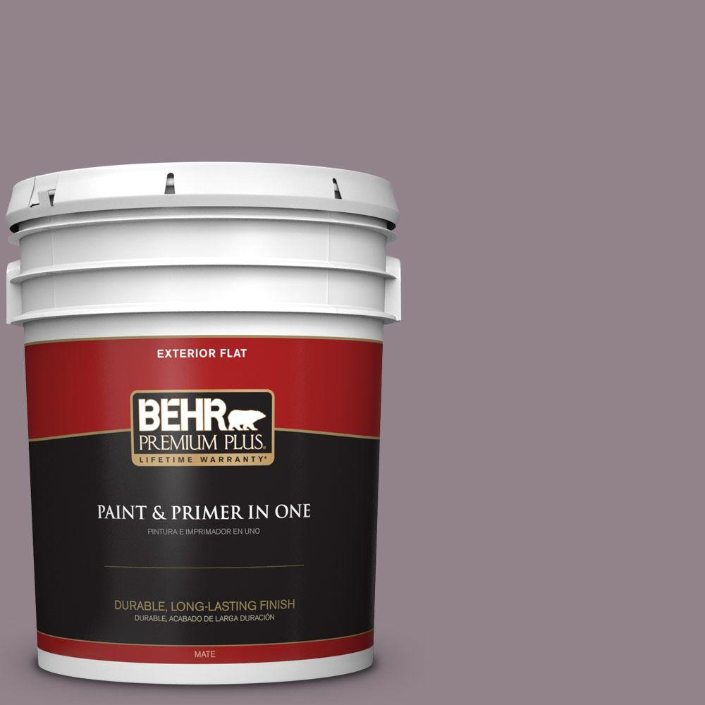 5-gal. #N110-4 Gothic Purple Flat Exterior Paint