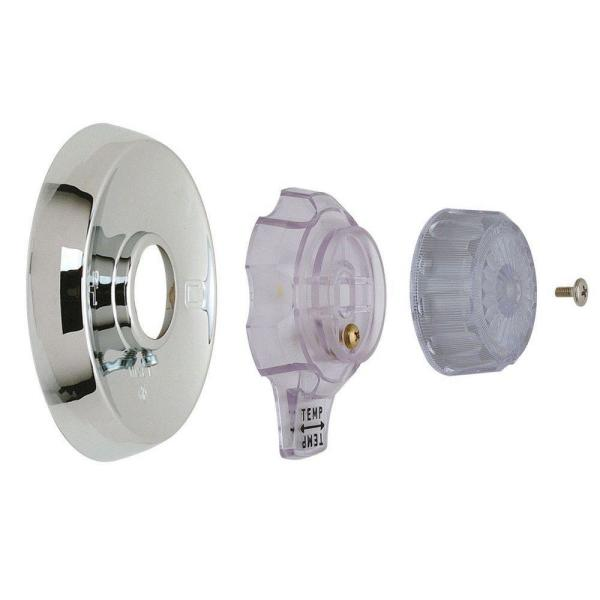 1-Handle Tub and Shower Faucet Trim Kit for Mixet Non-Pressure Balanced Valves in Chrome/Clear (Valve Not Included)