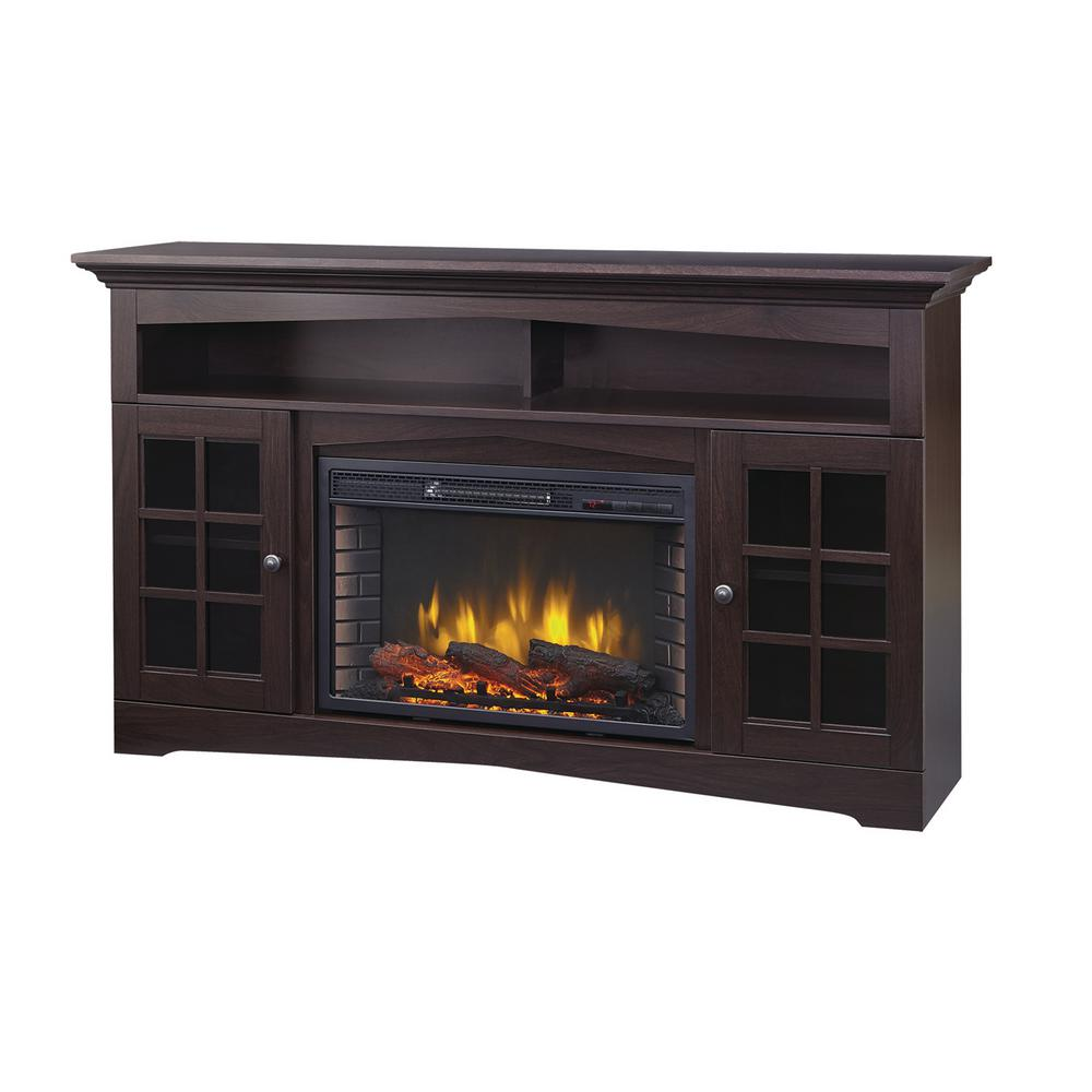 Excellent Home Decorators Collection Avondale Grove 59 In Tv Stand Infrared Electric Fireplace In Espresso Download Free Architecture Designs Grimeyleaguecom