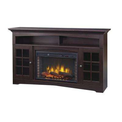Avondale Grove 59 in. TV Stand Infrared Electric Fireplace in Espresso