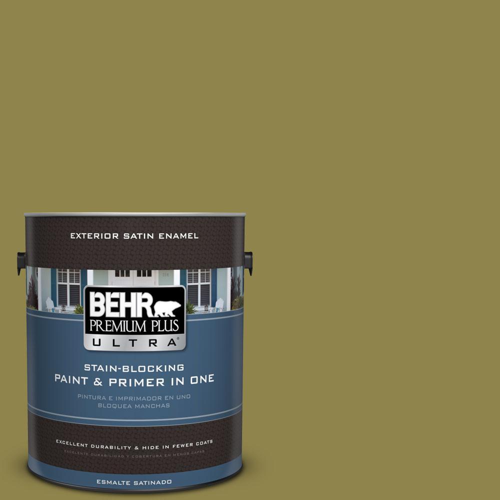 BEHR Premium Plus Ultra 1-gal. #PPU9-2 Lucky Bamboo Satin Enamel Exterior Paint