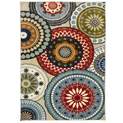 Suzani Blue Vintage 7 ft. 6in. x 10 ft. Area Rug