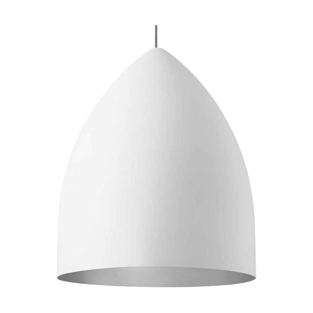 LBL Lighting Signal Grande 1-Light LED White Line-Voltage Pendant LBL Lighting Signal Grande 1-Light LED White Line-Voltage Pendant