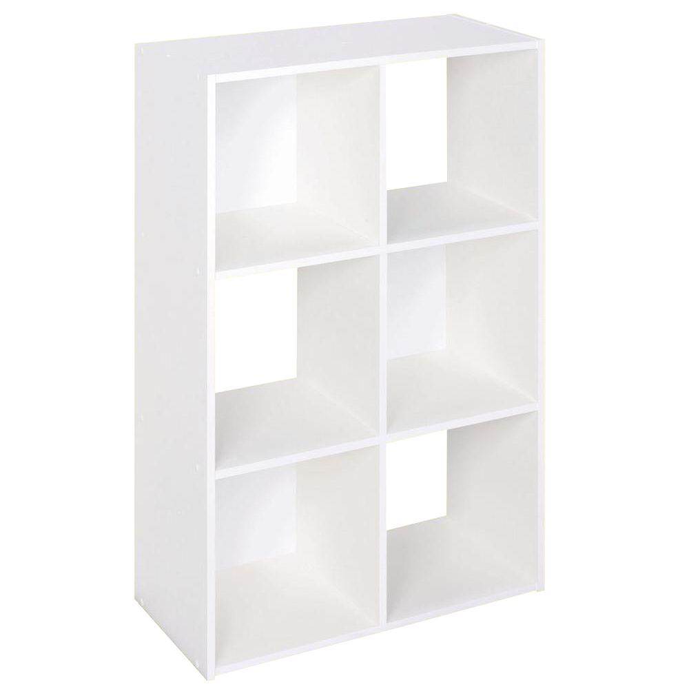 H White Stackable 6 Cube Organizer