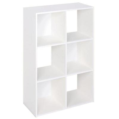24 in. W x 36 in. H White Stackable 6-Cube Organizer