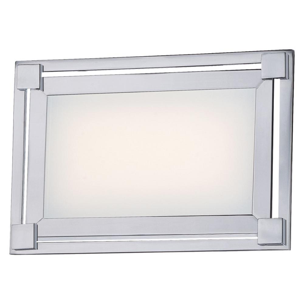 Framed 18-Watt Chrome Integrated LED Bath Light