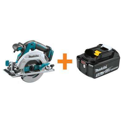 6-1/2 in. 18-Volt LXT Lithium-Ion Brushless Cordless Circular Saw Tool-Only with Bonus 18-Volt LXT 5.0 Ah Battery