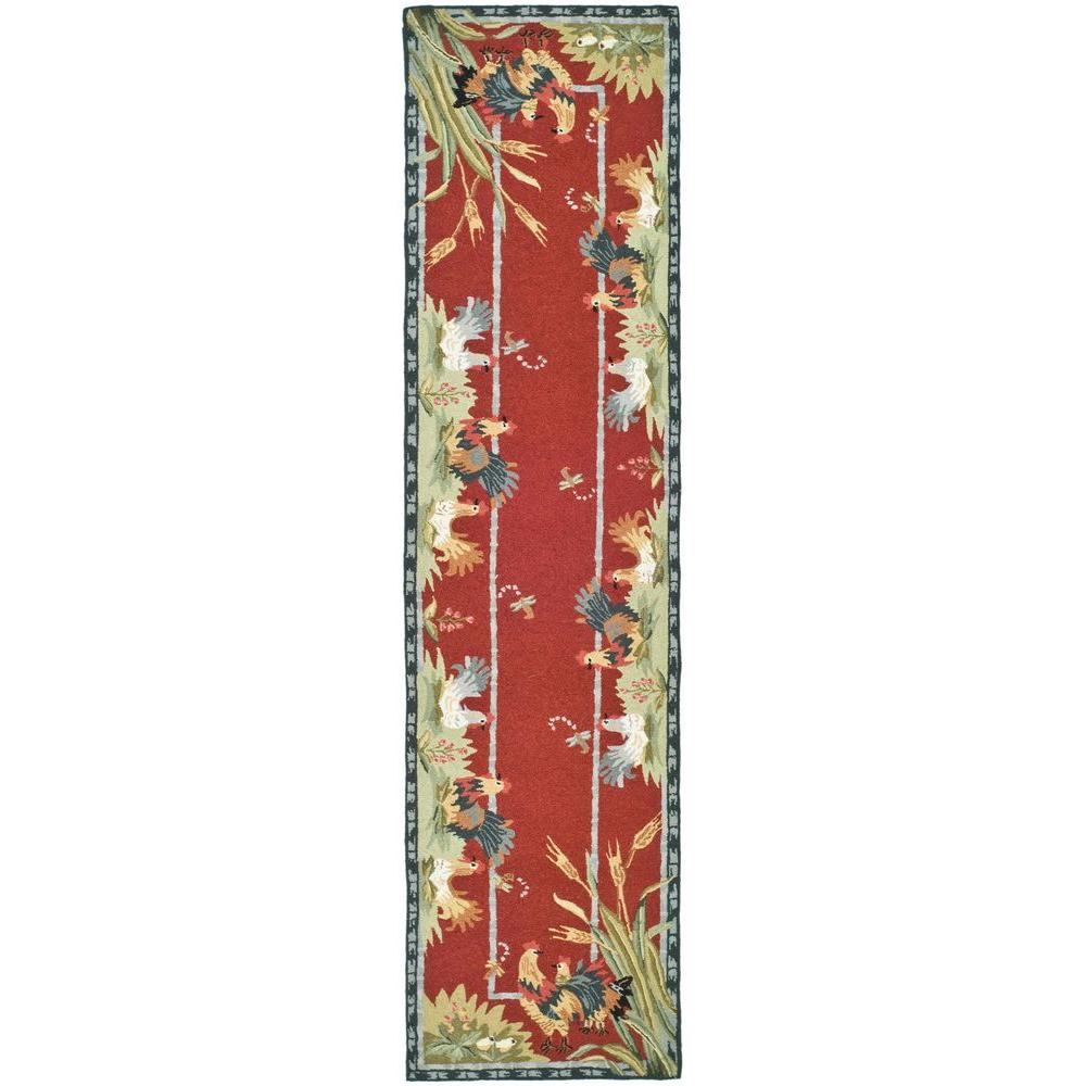 Safavieh Chelsea Burgundy 2 ft. 6 in. x 10 ft. Rug Runner