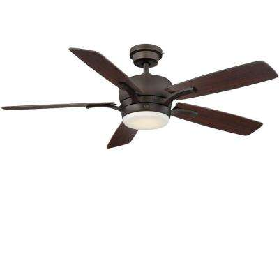 Adley 54 in. LED Indoor Bronze Ceiling Fan with SkyPlug Technology