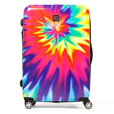 Tie-Dye Swirl 24 in. ABS Hard Case Upright Spinner Rolling Luggage Suitcase