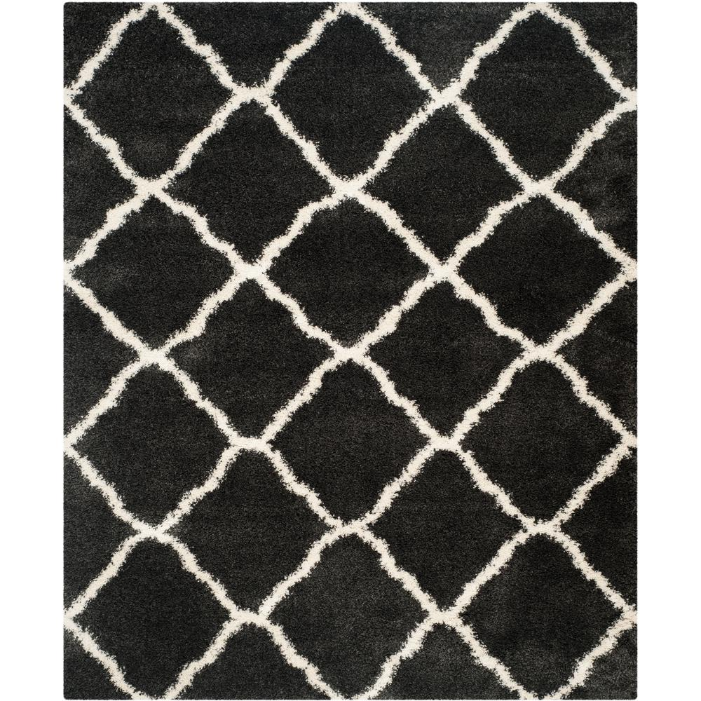 Belize Shag Charcoal/Ivory 8 ft. 6 in. x 12 ft. Area