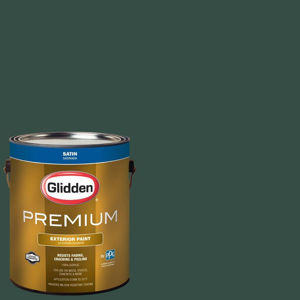 Glidden Premium 1-gal. #HDGG65D Dark Hunter Green Satin Latex ...
