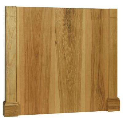 3x34.5x37.5 in. Decorative Island End Panel in Natural Hickory