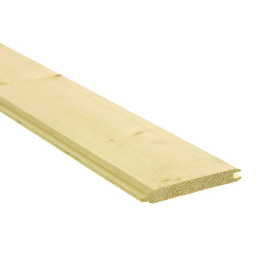 1 In X 4 In X 8 Ft D Grade Tongue And Groove Ground Contact Pressure Treated Board 254037 The Home Depot