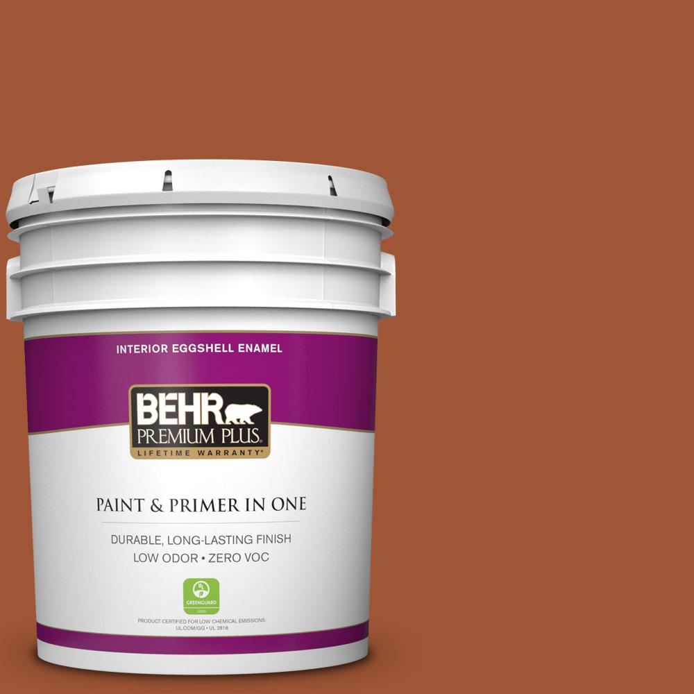 5 gal. #S-H-230 Ground Nutmeg Zero VOC Eggshell Enamel Interior Paint