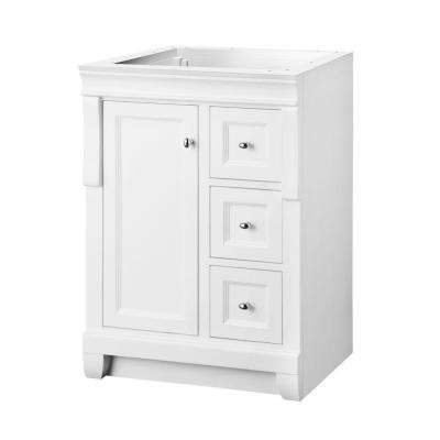 Naples 24 in. W Bath Vanity Cabinet Only in White with Right Hand Drawers