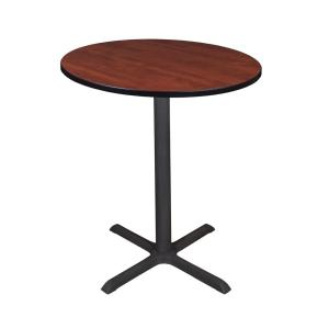 Cain Cherry 36 in. Round Cafe Table