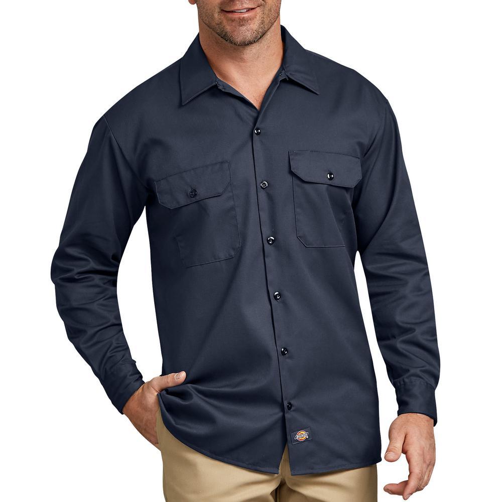 Dickies Mens Long Sleeve Regular Fit Icon Tee