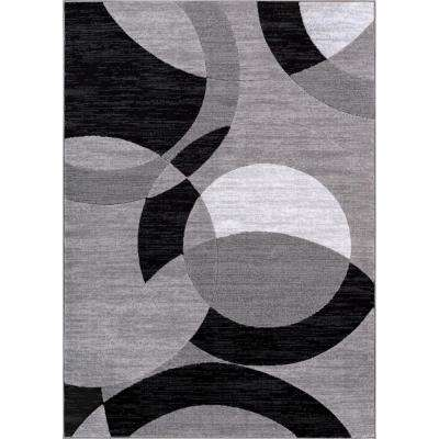 Gray 8 X 10 Art Deco Area Rugs Rugs The Home Depot
