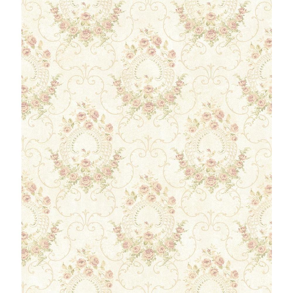 Georgiana Tearose Peach Cameo Wallpaper Sample