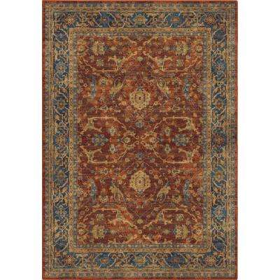 Anzia Oriental Red 7 ft. 10 in. x 10 ft. 10 in. Area Rug