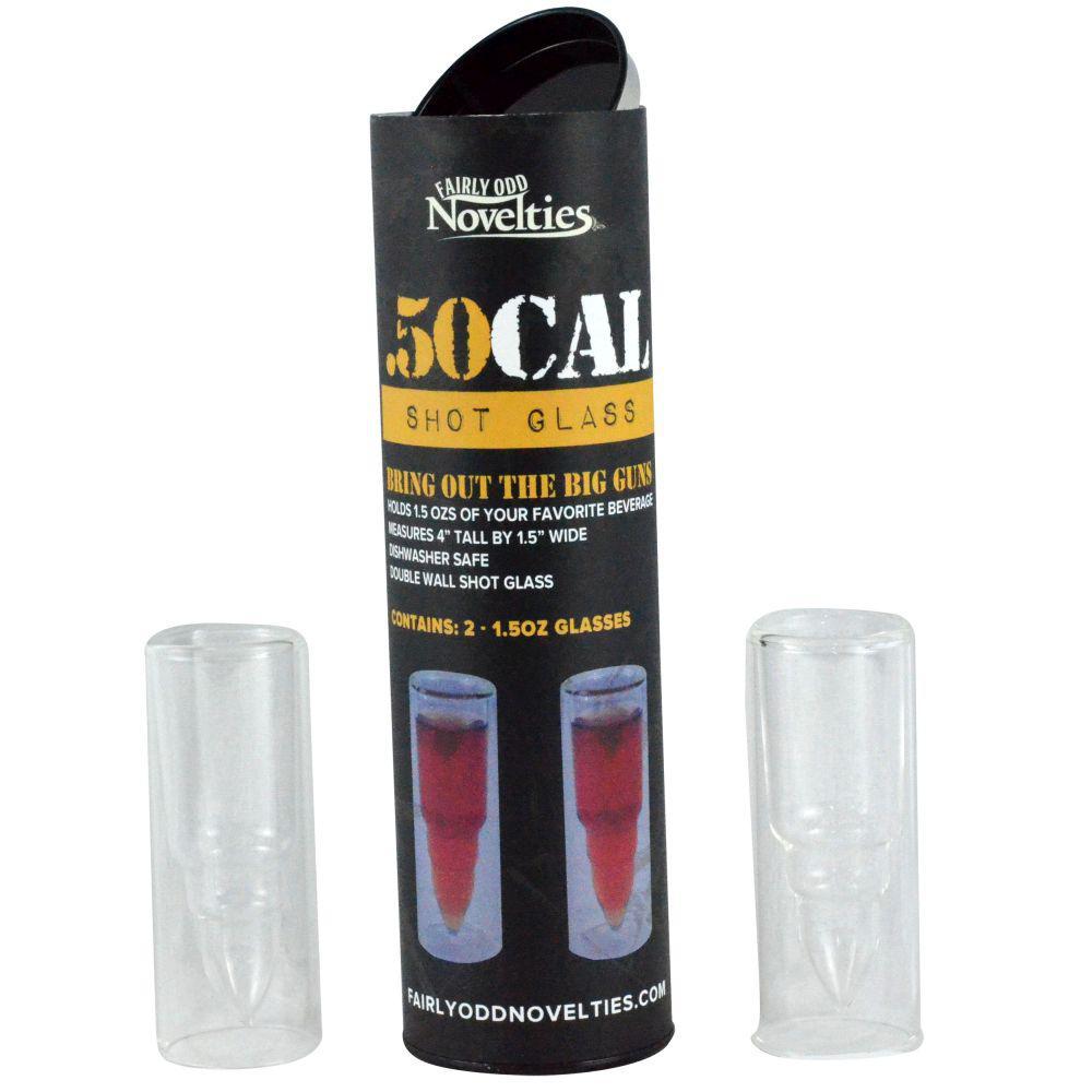 .50 Caliber Bullet Shot Glass (Set of 2)