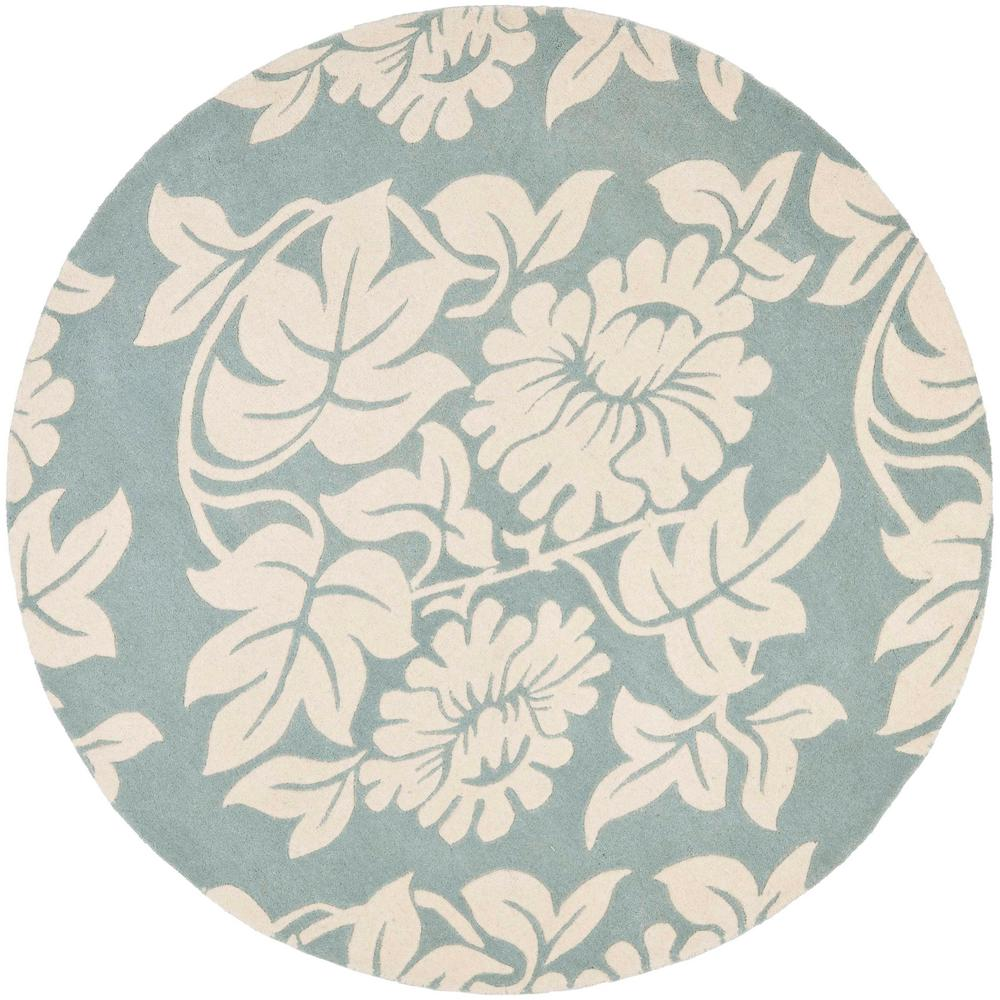 Soho Blue/Ivory 6 ft. x 6 ft. Round Area Rug