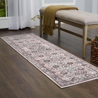 Kenmare Gray/Yellow 2 ft. x 7 ft. Indoor Area Rug