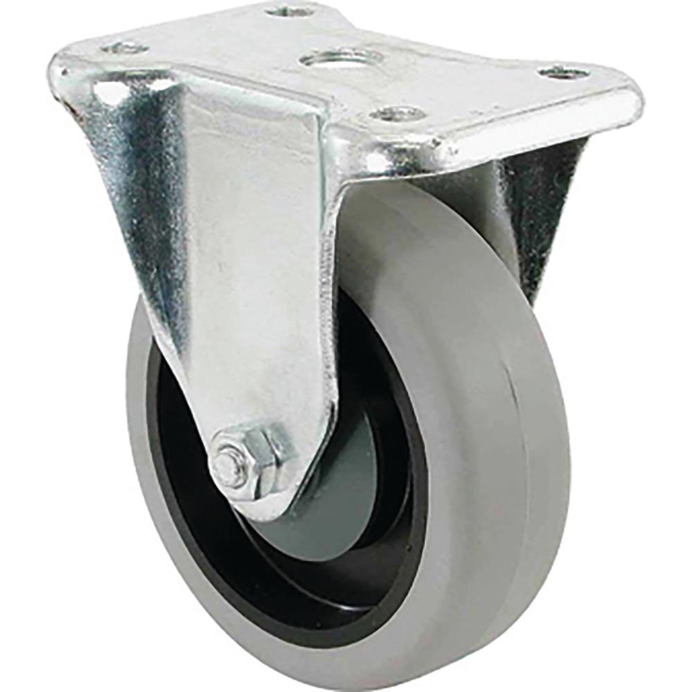 4 in. TPR Rigid Caster with 250 lb. Load Rating