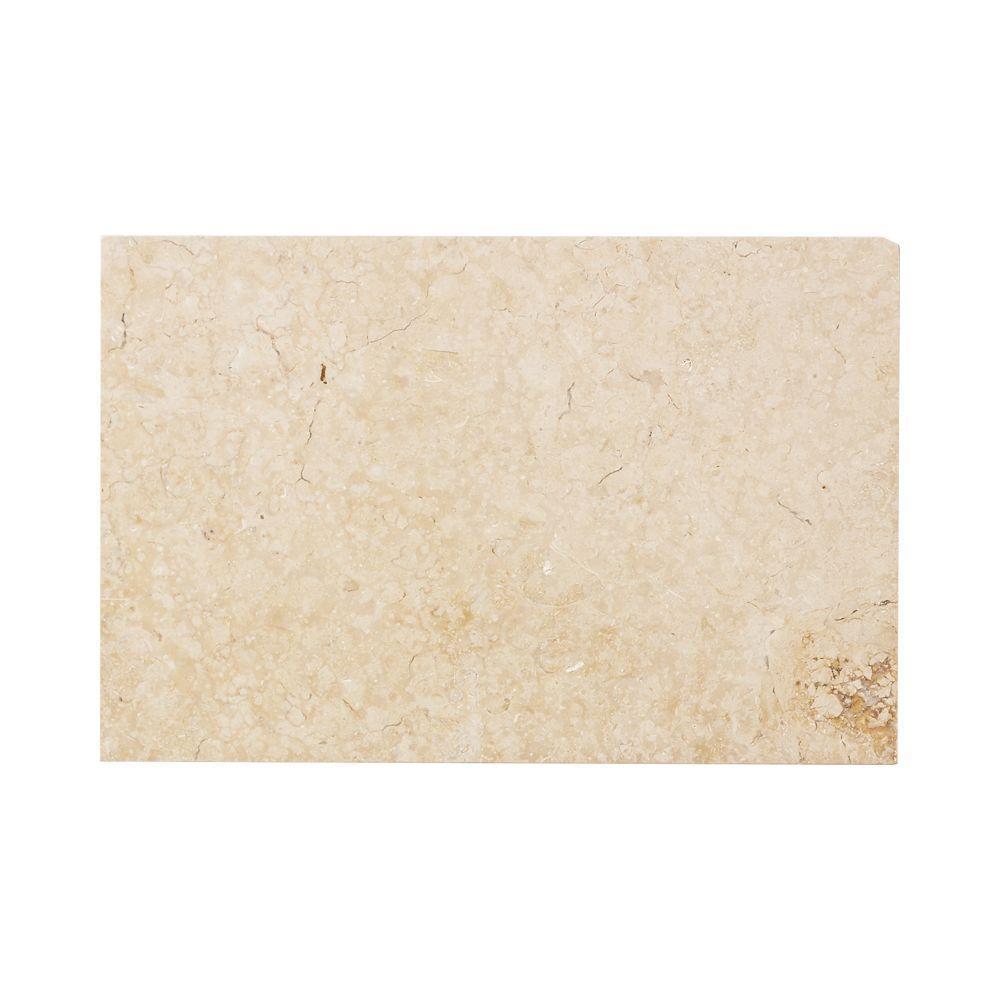 Jeffrey Court Creama 8 in. x 12 in. Honed Marble Floor/Wall Tile (4 sq. ft. / case)