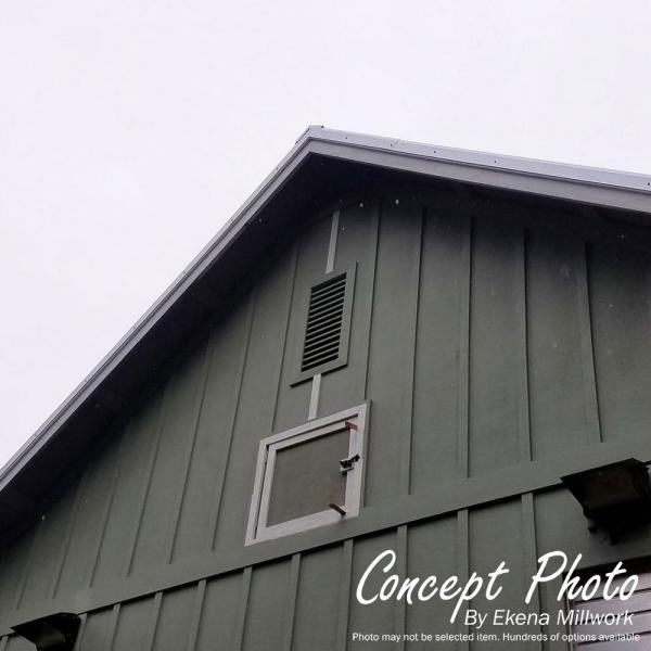 Smooth Western Red Cedar 16 Width x 20 Height Vertical Gable Vent with 1 x 4 Flat Trim Frame Ekena Millwork GVWVE16X2001SFUWR Unfinished Functional