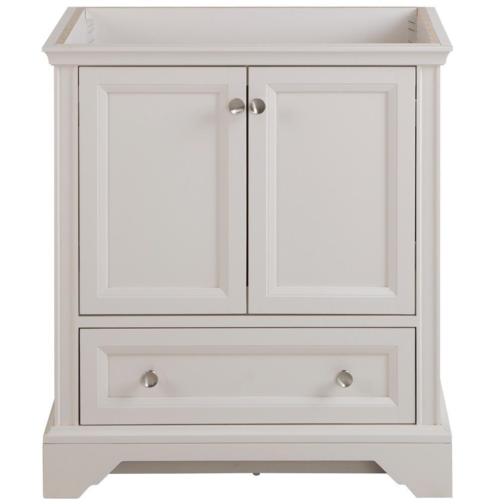Stratfield 30 in. W x 21.57 in. D x 34.25 in. H Bath Vanity Cabinet Only in Cream