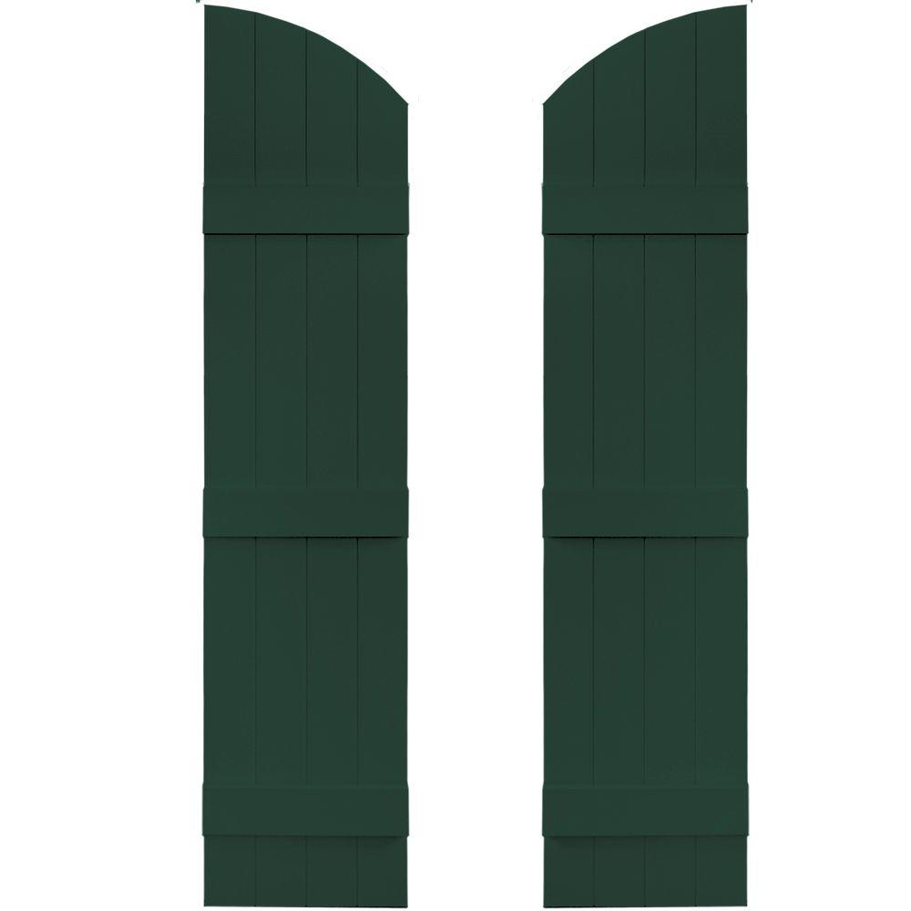 14 in. x 57 in. Board-N-Batten Shutters Pair, 4 Boards Joined