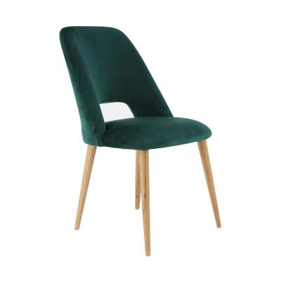 Green Wood and Fabric Cushioned Dining Chair