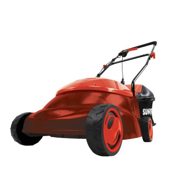 14 in. 13 Amp Electric Walk Behind Push Lawn Mower with Side Discharge Chute, Red