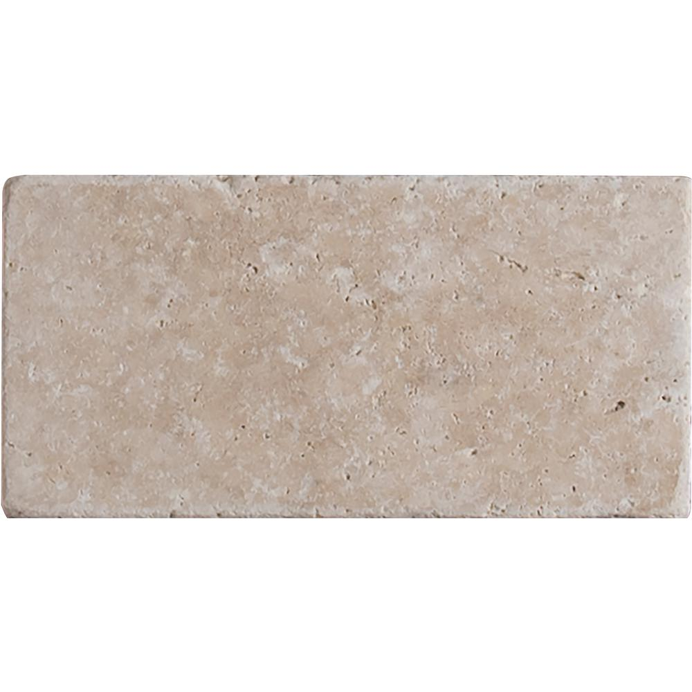 MSI Bologna Chiaro 3 in. x 6 in. Tumbled Travertine Floor and Wall Tile (1 sq. ft. / case)