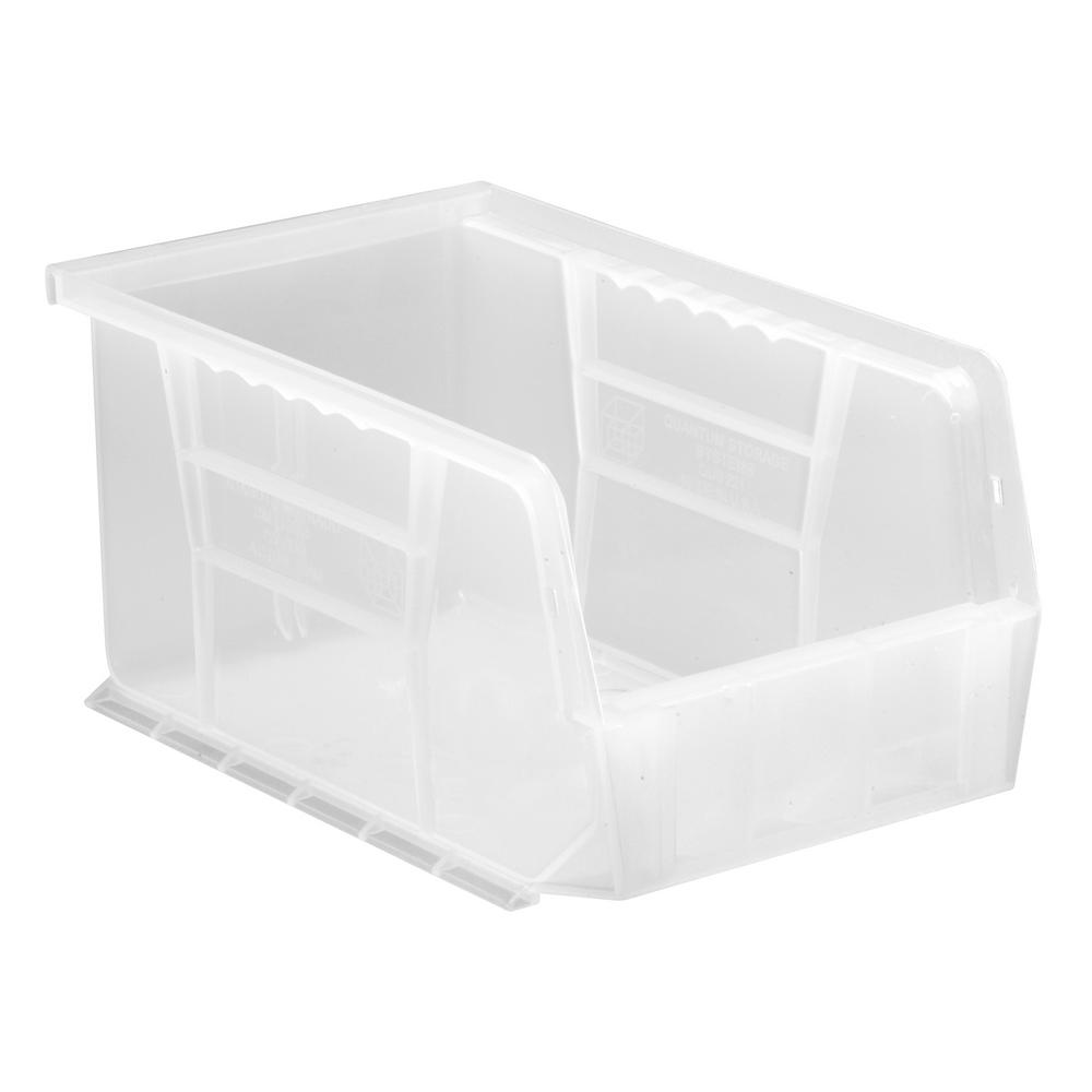 Ultra Series Stack and Hang 2.4 Gal. Storage Bin in Clear (12-Pack)