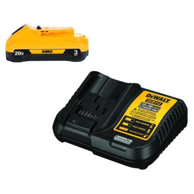 20-Volt MAX Compact Lithium-Ion 3.0Ah Battery Pack with 12-Volt to 20-Volt MAX Charger