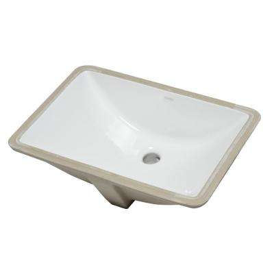 7.5 in. Undermount Sink Basin in White