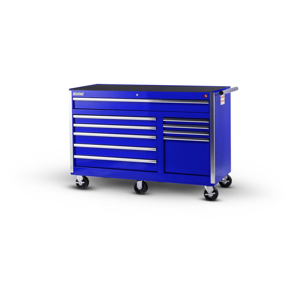 56 in. Tech Series 10-Drawer Cabinet, Blue