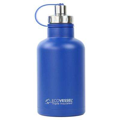 64 oz. Boss Triple Insulated Growler with Screw Cap - Hudson Blue