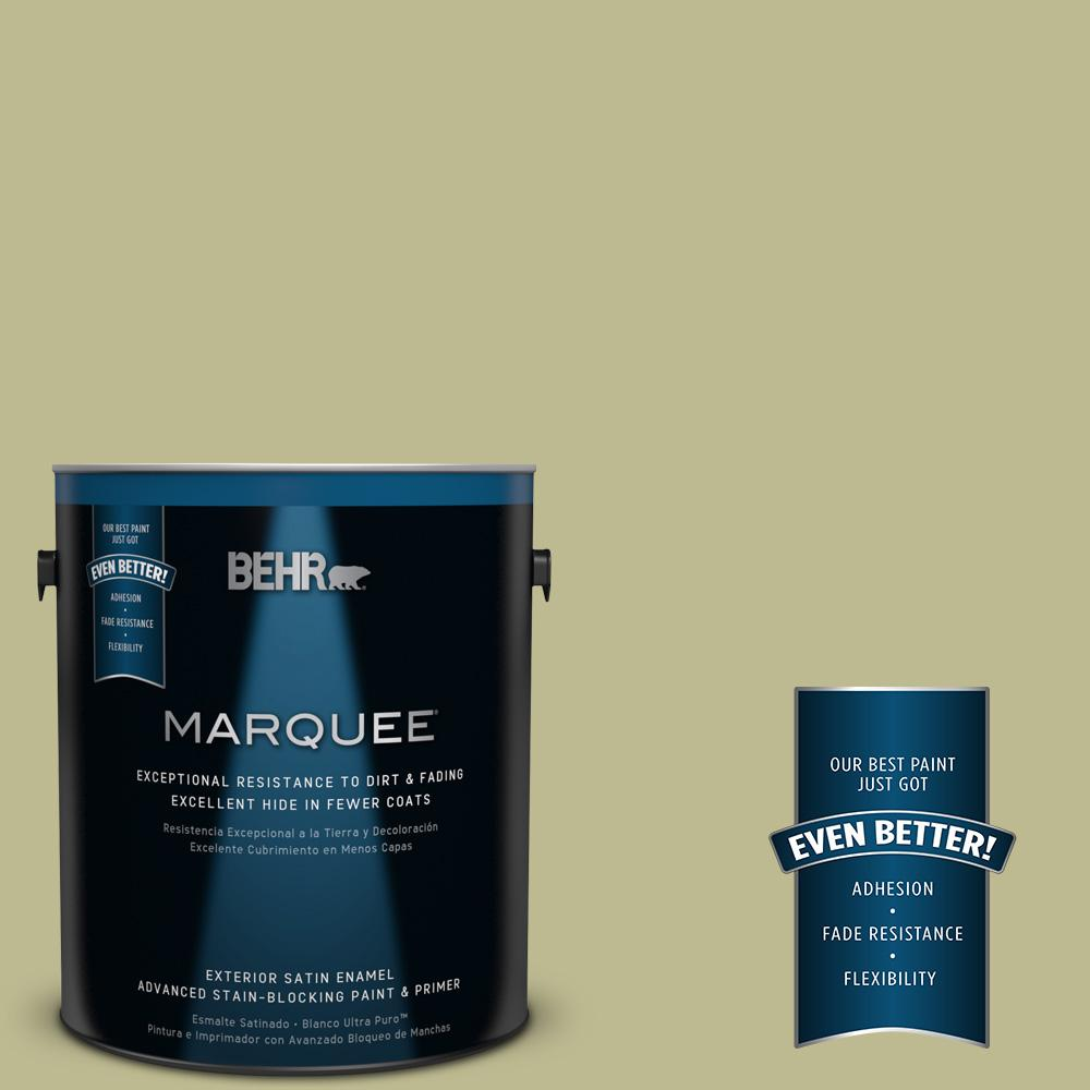 BEHR MARQUEE 1-gal. #S340-4 Back to Nature Satin Enamel Exterior Paint