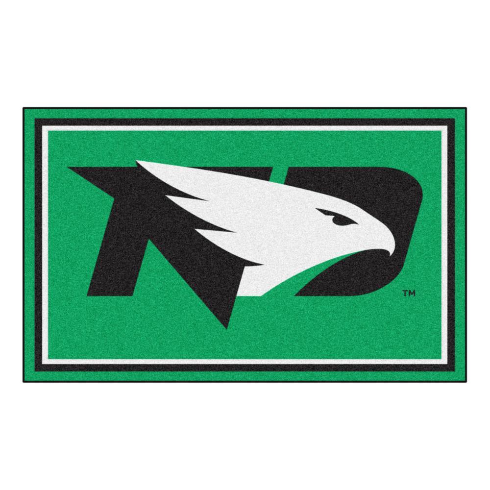 NCAA - University of North Dakota Green 6 ft. x 4 ft. Indoor Area Rug